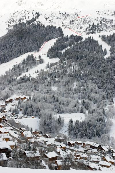 A view of the ski resort Stock photo © naumoid