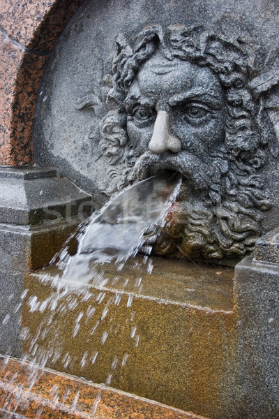 Bas-relief  fountain in St. Petersburg, Russia Stock photo © naumoid