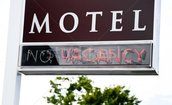 мотель знак красный неоновых свет отель Сток-фото © naumoid