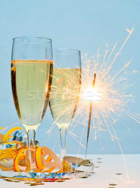 New Year champagne Stock photo © naumoid