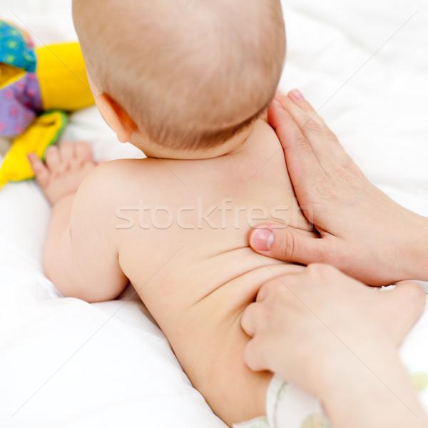 Maakt een reservekopie massage masseuse weinig Stockfoto © naumoid