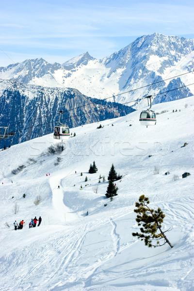Ski resort valley Stock photo © naumoid