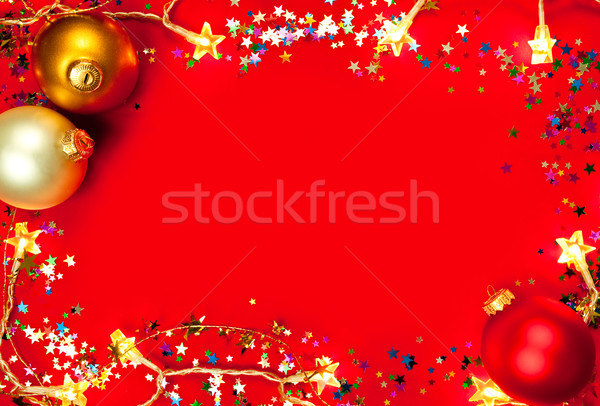 Christmas frame Stock photo © naumoid