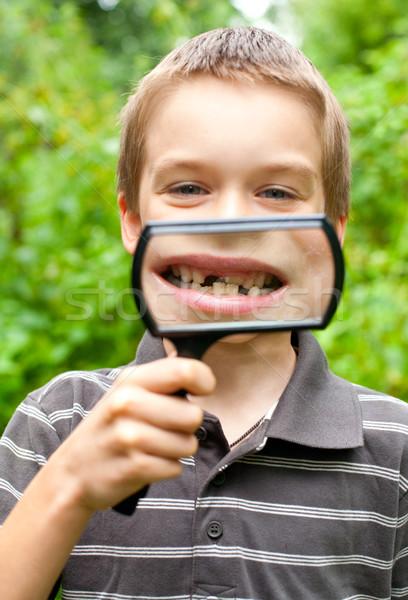 лиственный зубов отсутствующий ребенка Сток-фото © naumoid