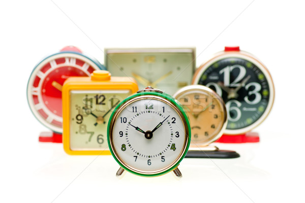 Alarm clock set Stock photo © naumoid