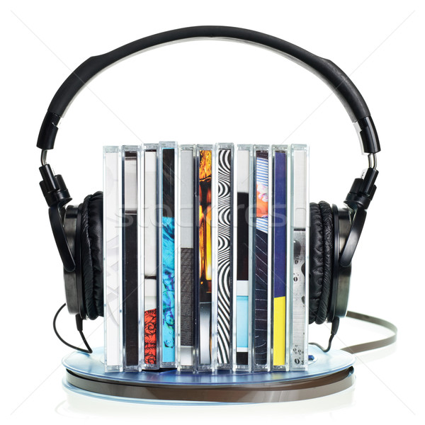Auriculares cds cinta Foto stock © naumoid