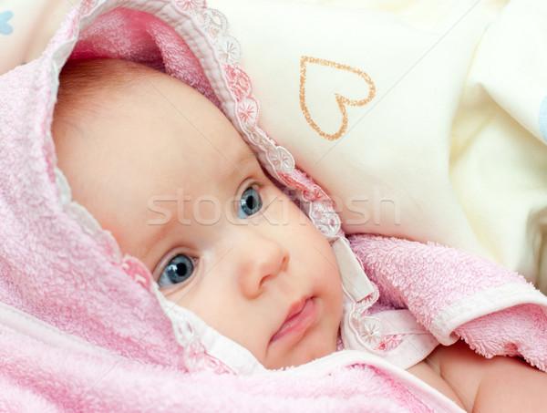 Foto d'archivio: Asciugamano · piccolo · rosa · bagno
