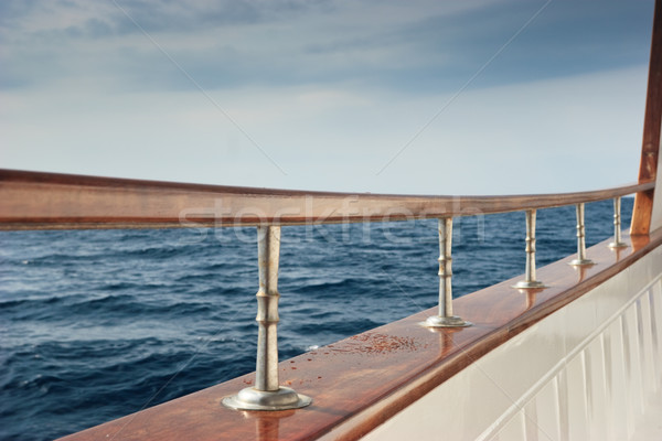 Pleasure boat rail Stock photo © naumoid