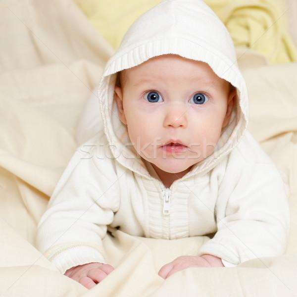 Retrato quatro mês menina Foto stock © naumoid