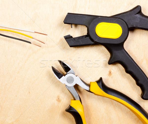 Drót szerszámok automatikus sztriptíztáncos átló réz Stock fotó © naumoid