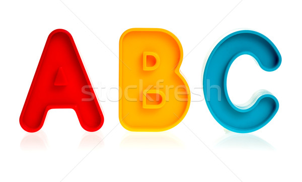 Plastic letters ABC Stock photo © naumoid