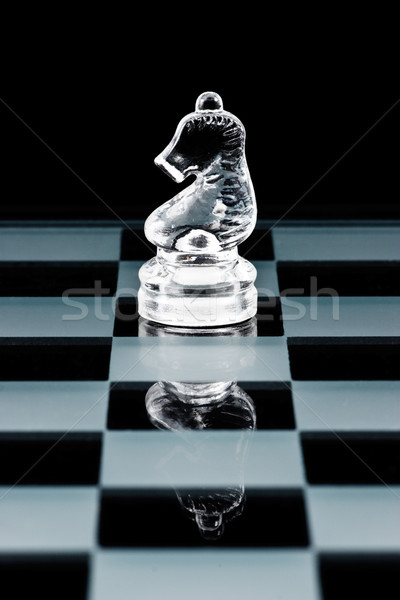 Glass chess knight Stock photo © naumoid
