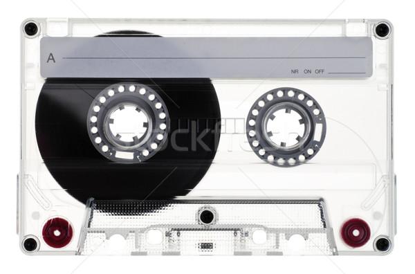 Kompakt kazetta klasszikus átlátszó fehér zene Stock fotó © naumoid