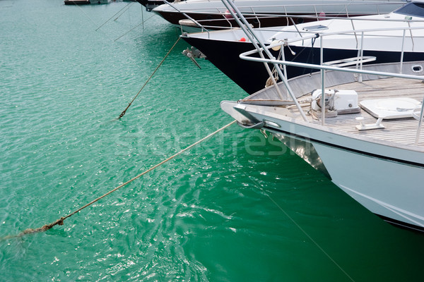 Moored sailing boats  Stock photo © naumoid
