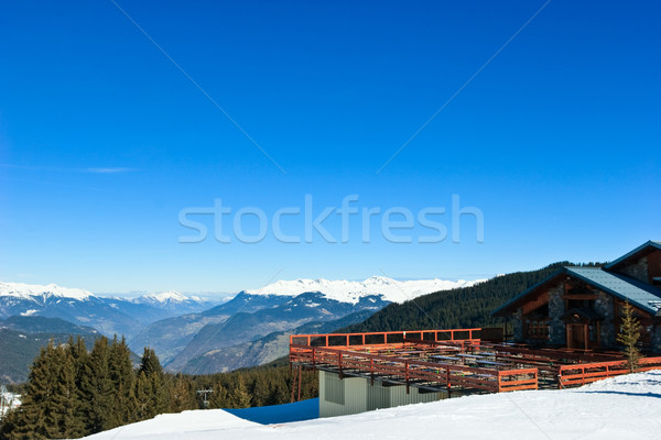 Ski resort chalet Stock photo © naumoid