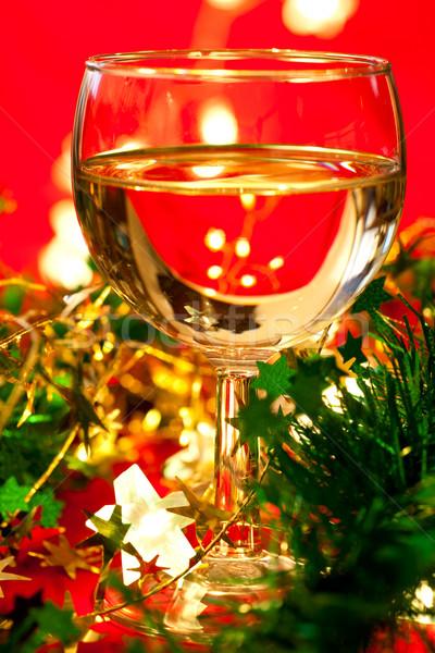 украшение стекла белое вино Рождества мелкий Сток-фото © naumoid