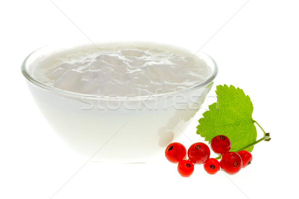 Yogurt bowl with Redcurrant berries Stock photo © naumoid
