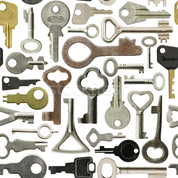 Old keys pattern Stock photo © naumoid
