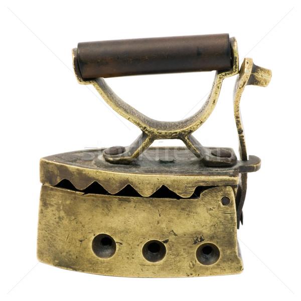 Vintage Miniature Charcoal Iron Stock photo © naumoid