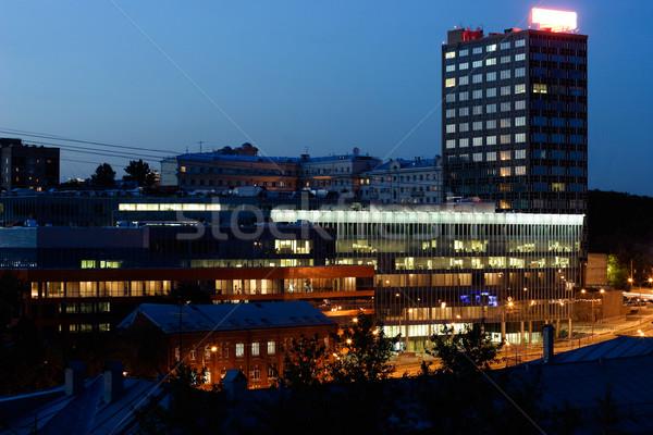 Night city scene Stock photo © naumoid
