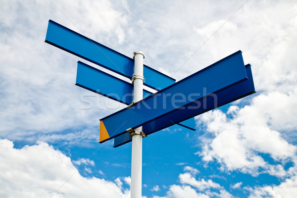 Stock photo: Blank signpost