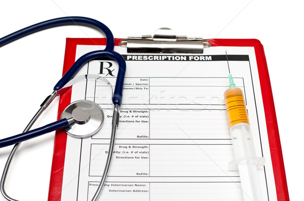 Veterinário rx veterinário prescrição forma estetoscópio Foto stock © naumoid