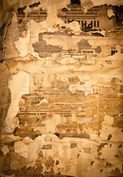 Schmutzig Papier alten sowjetischen Zeitung News Stock foto © naumoid