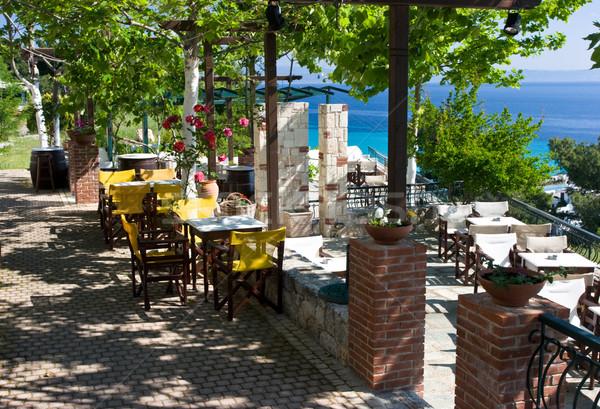Stock photo: Cafe terrace