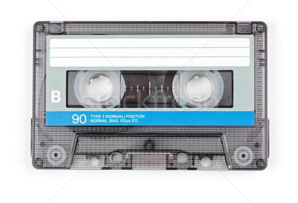 Audio szalag klasszikus átlátszó kompakt kazetta Stock fotó © naumoid