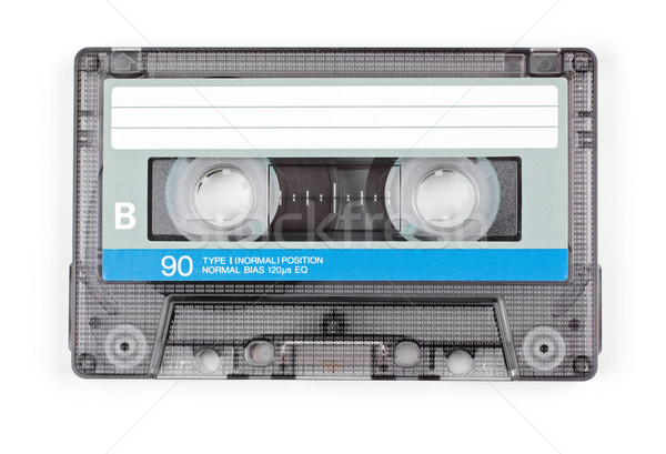 Audio tape vintage transparant compact cassette Stockfoto © naumoid