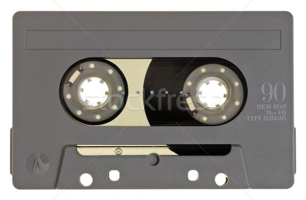 Kompakt kazetta klasszikus szürke fehér zene Stock fotó © naumoid