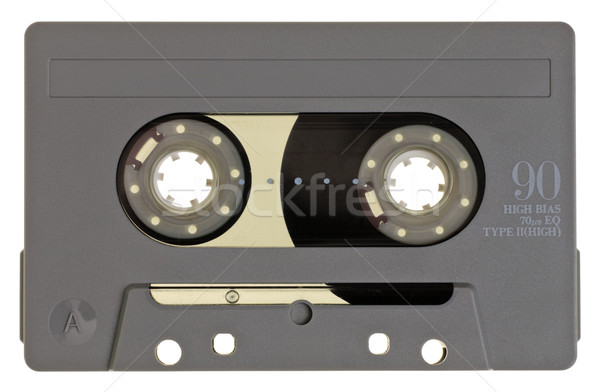 Compact cassette vintage grijs witte muziek Stockfoto © naumoid