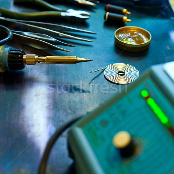 пайка станция мягкой инструменты мелкий Сток-фото © naumoid