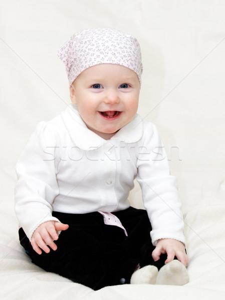 Gelukkig zuigeling acht maand Stockfoto © naumoid