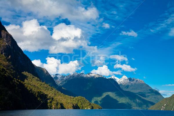 Tó felhők dél sziget Új-Zéland víz Stock fotó © naumoid