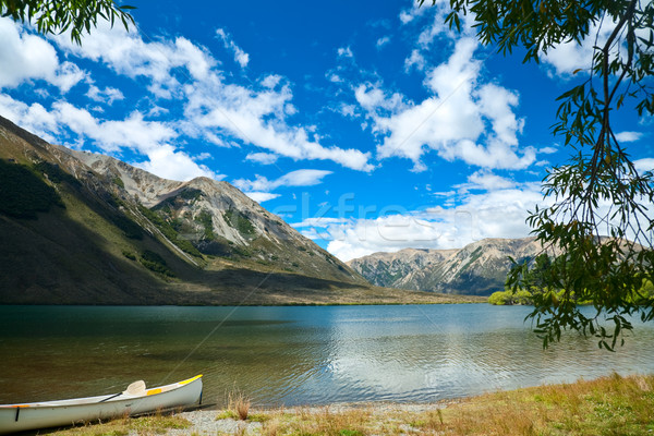 Canoe by lake Stock photo © naumoid