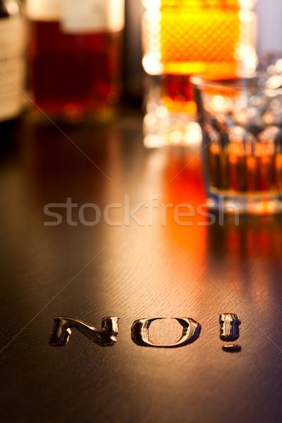 нет алкоголя слово написанный виски таблице Сток-фото © naumoid
