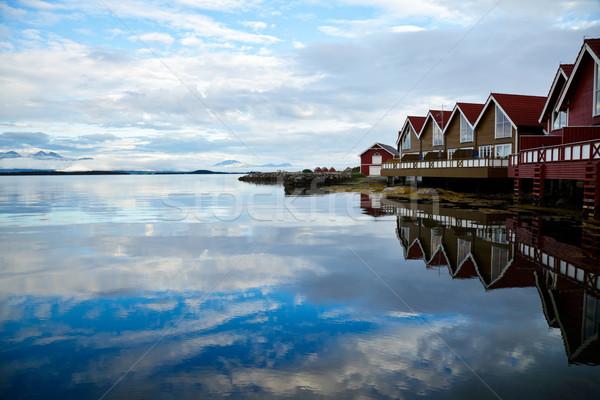 Camping vermelho água natureza Foto stock © naumoid