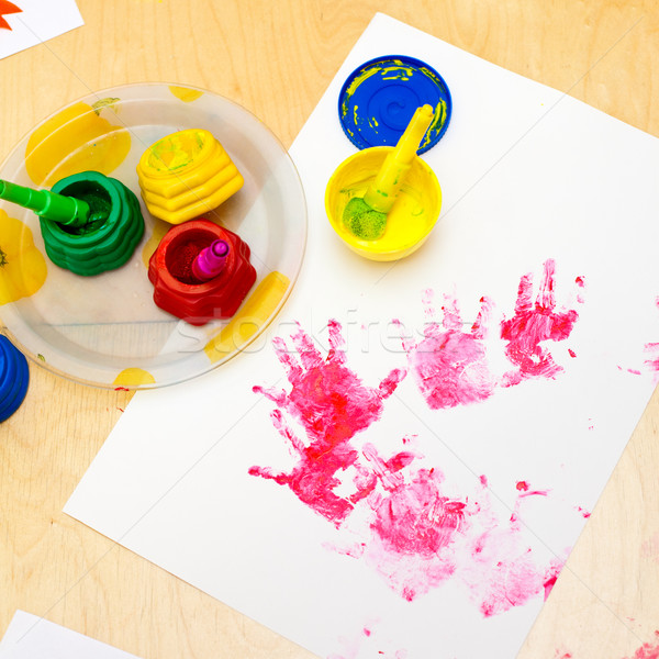 Fingerpaint Stock photo © naumoid