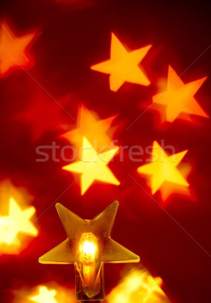 Karácsony fények csillag alakú otthon háttér Stock fotó © naumoid