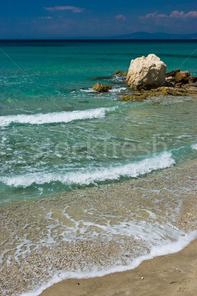 Seascape with stone Stock photo © naumoid