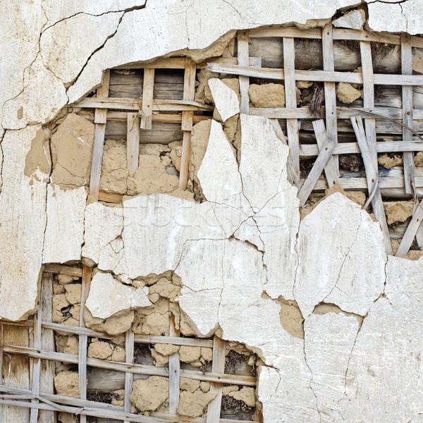 Cracked wall Stock photo © naumoid