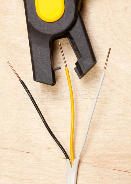 Drót automatikus sztriptíztáncos réz drótok munka Stock fotó © naumoid