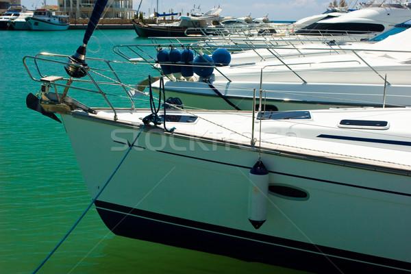 Yachts in marina Stock photo © naumoid
