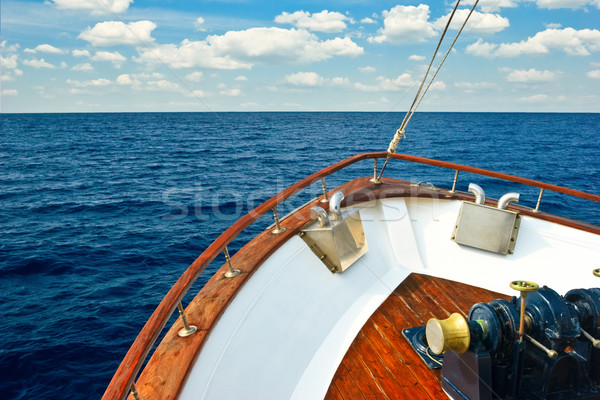 Pleasure boat bow Stock photo © naumoid
