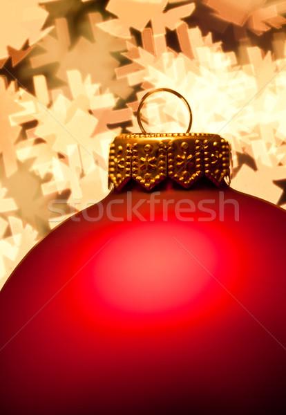 Рождества красный безделушка фары форма Сток-фото © naumoid