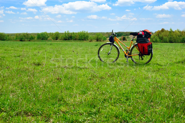 Touring bicycle Stock photo © naumoid