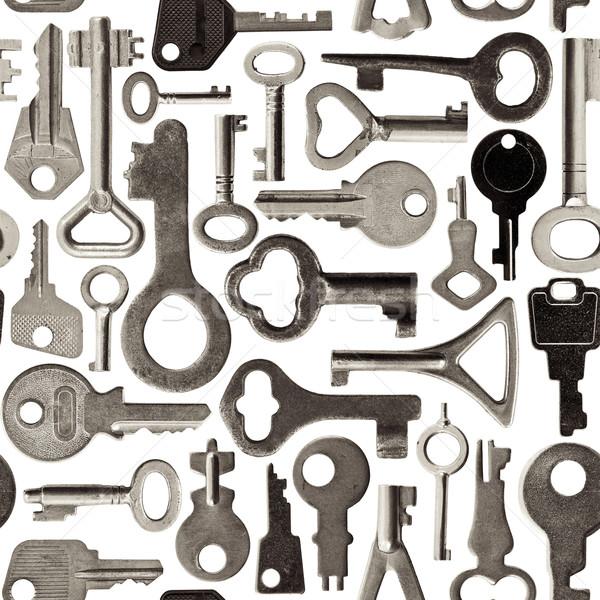 Alten Schlüssel Muster Sammlung isoliert Stock foto © naumoid