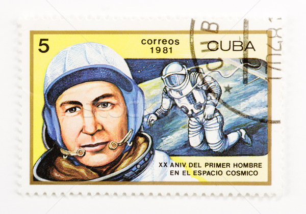 почтовая марка Vintage Куба штампа бумаги письме Сток-фото © naumoid