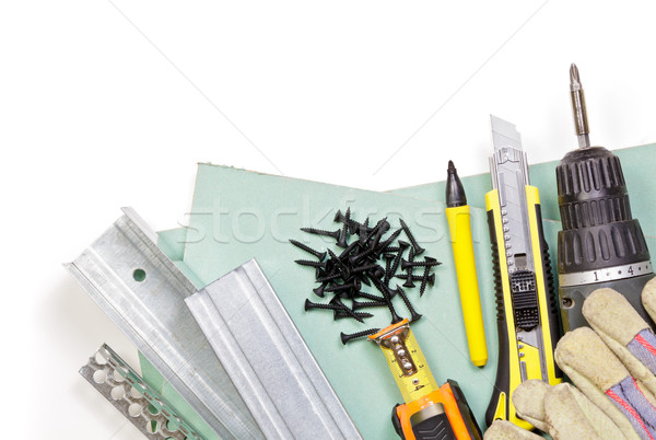 Drywall tools set Stock photo © naumoid